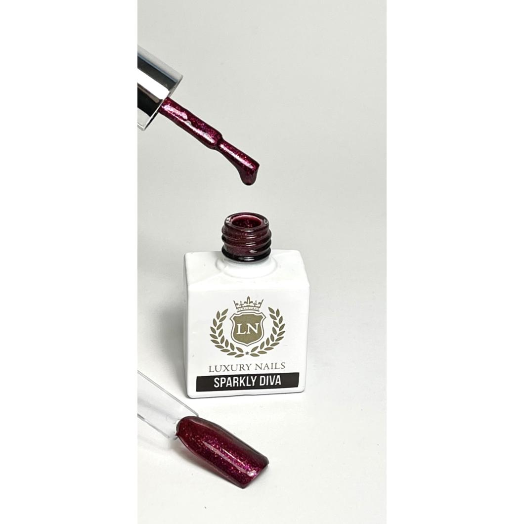 Luxury Bling Gél Lakk B13 - Sparkly Díva 8ml