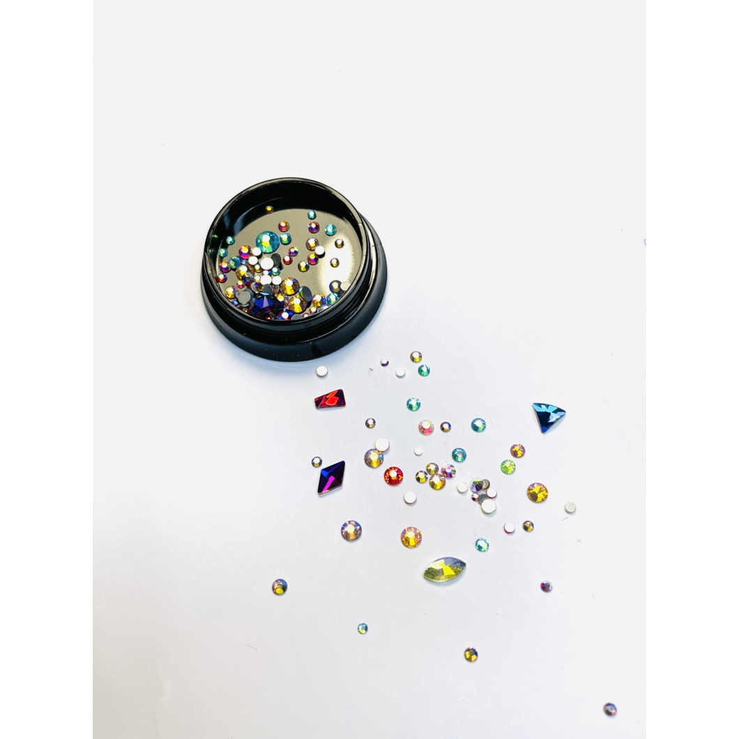 Luxury díszítő kövek, különböző formában - Colorfull