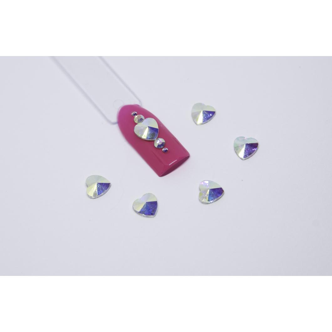 Luxury Multicolor díszítő kövek - szív