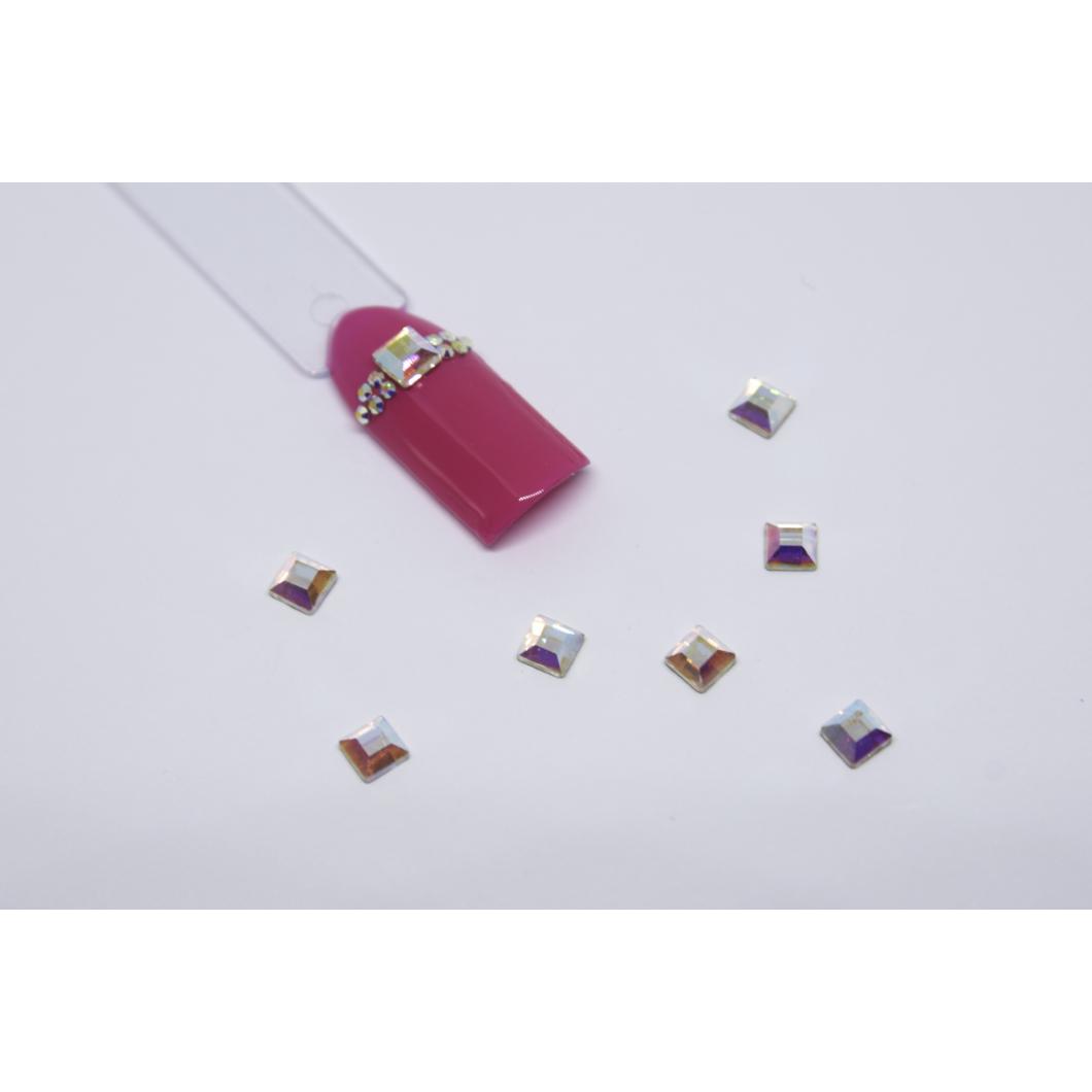 Luxury Multicolor díszítő kövek - négyzet kicsi
